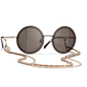 Chanel 4245 Round Sunglasses with Double Chain